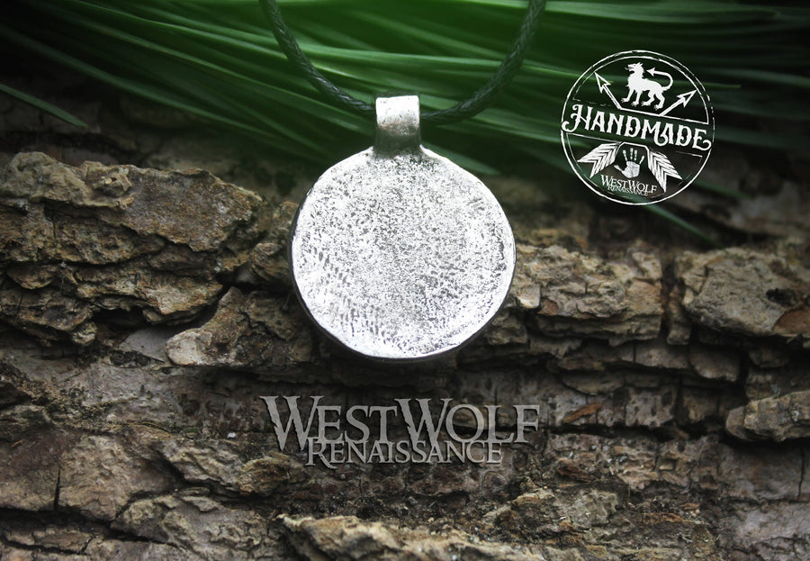 Viking Shield Pendant with Runes - Good Luck Charm