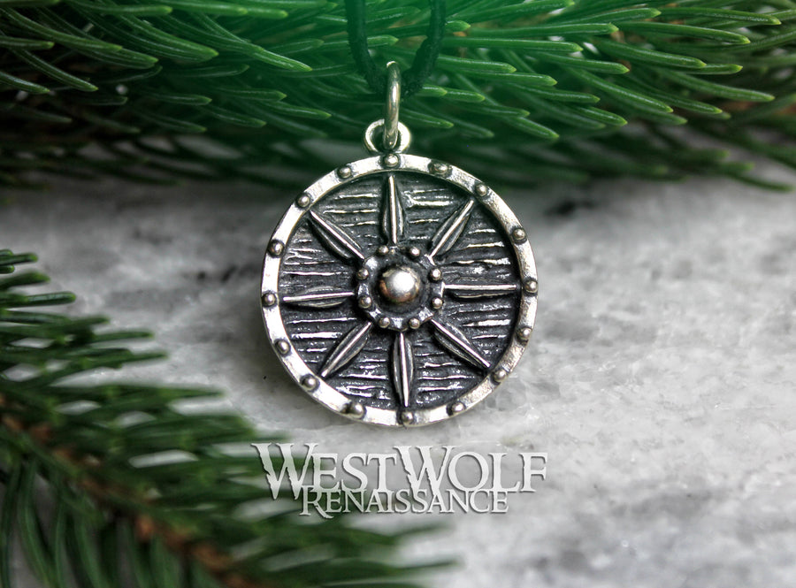 Viking Shield Pendant in Sterling Silver