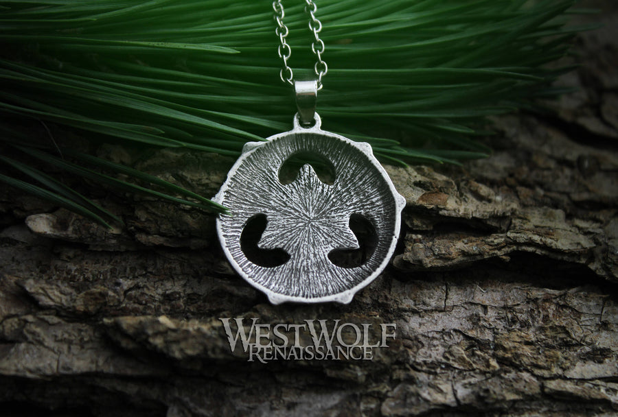 Celtic Triquetra Trinity Knot Pendant with 18 Inch Stainless Steel Chain