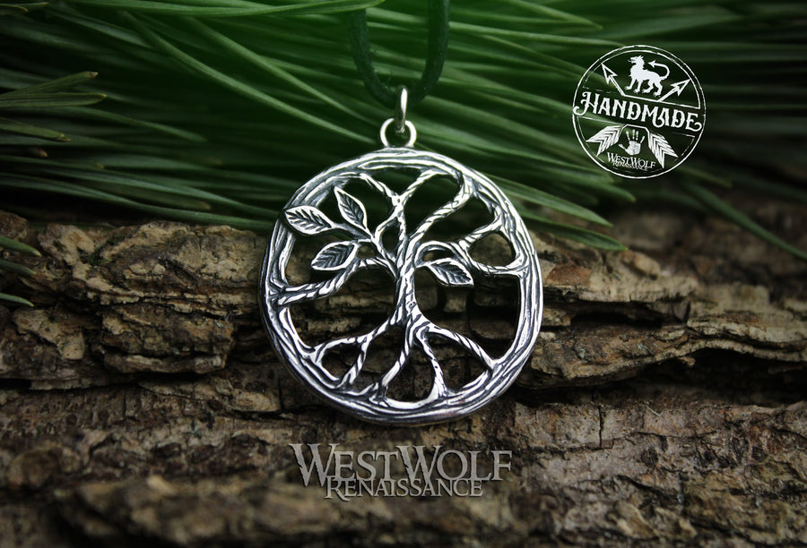 Tree of Life Pendant - Yggdrasil the World Tree - 925 Sterling Silver