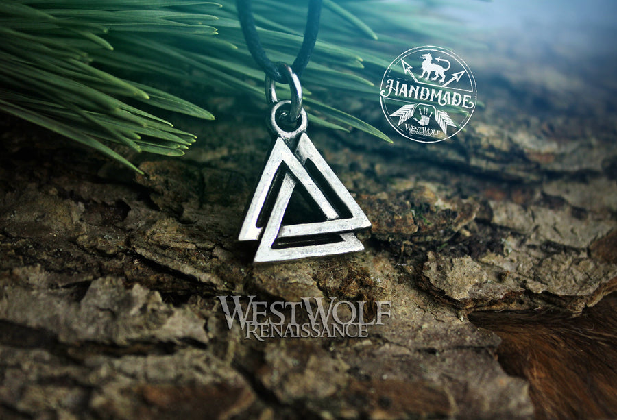 Viking Valknut Symbol Pendant - Smaller Sized