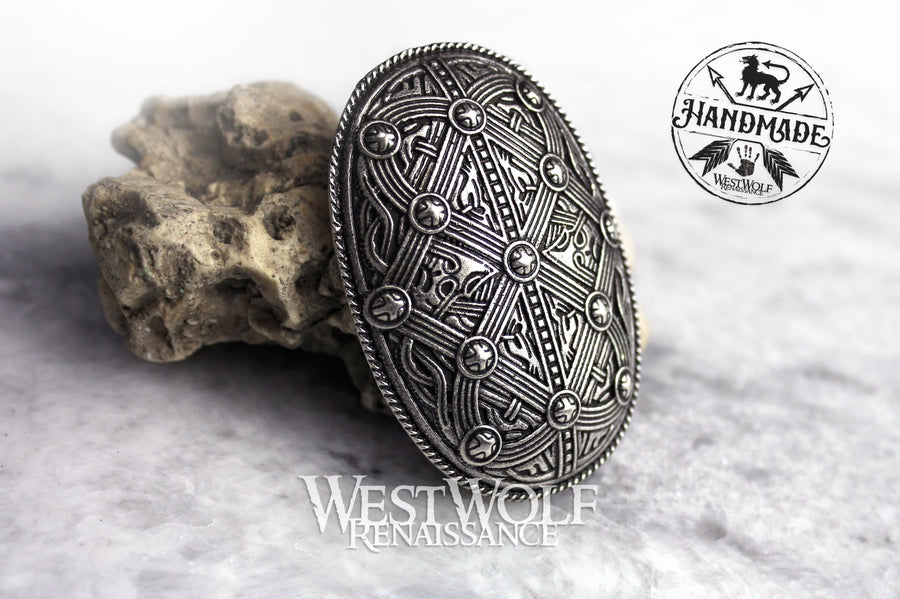 Viking Borre Style Tortoise Brooch or Pin
