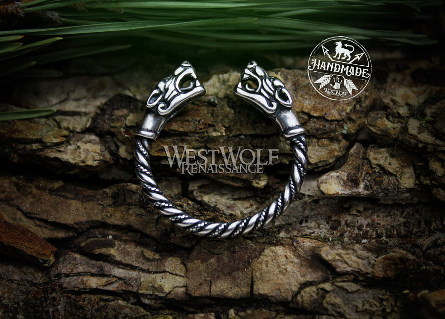 Viking Fenrir Wolf Head Ring - Made of 925 Sterling Silver
