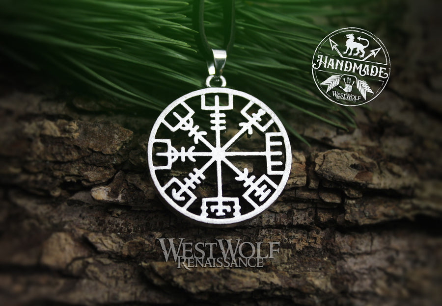 Viking Vegvisir Rune Pendant - The Runic Compass