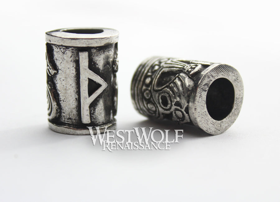 Viking Beads with Norse Runes for Jewelry or Beards/Hair/Dreadlocks