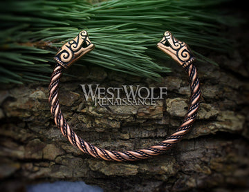 Bronze Viking Dragon Beast Bracelet