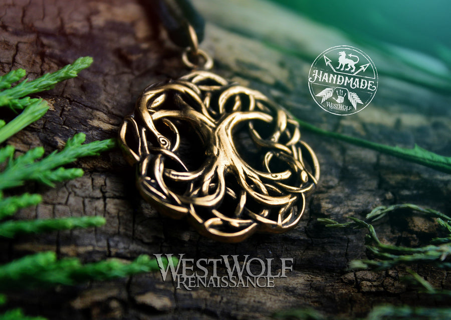 Tree of Life Pendant - Yggdrasil the World Tree - Solid Bronze