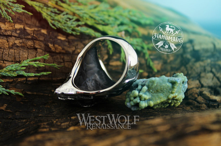 Viking Eagle Head Ring - Stainless Steel