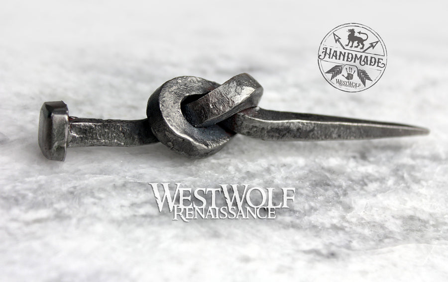 Hand-Forged Knotted Nail - Wedding Gift - Tying the Knot
