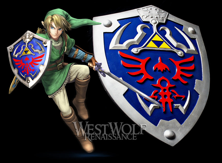 Legend of Zelda - Link's Hylian Knight Tri-Force Shield - Full Size/Scale