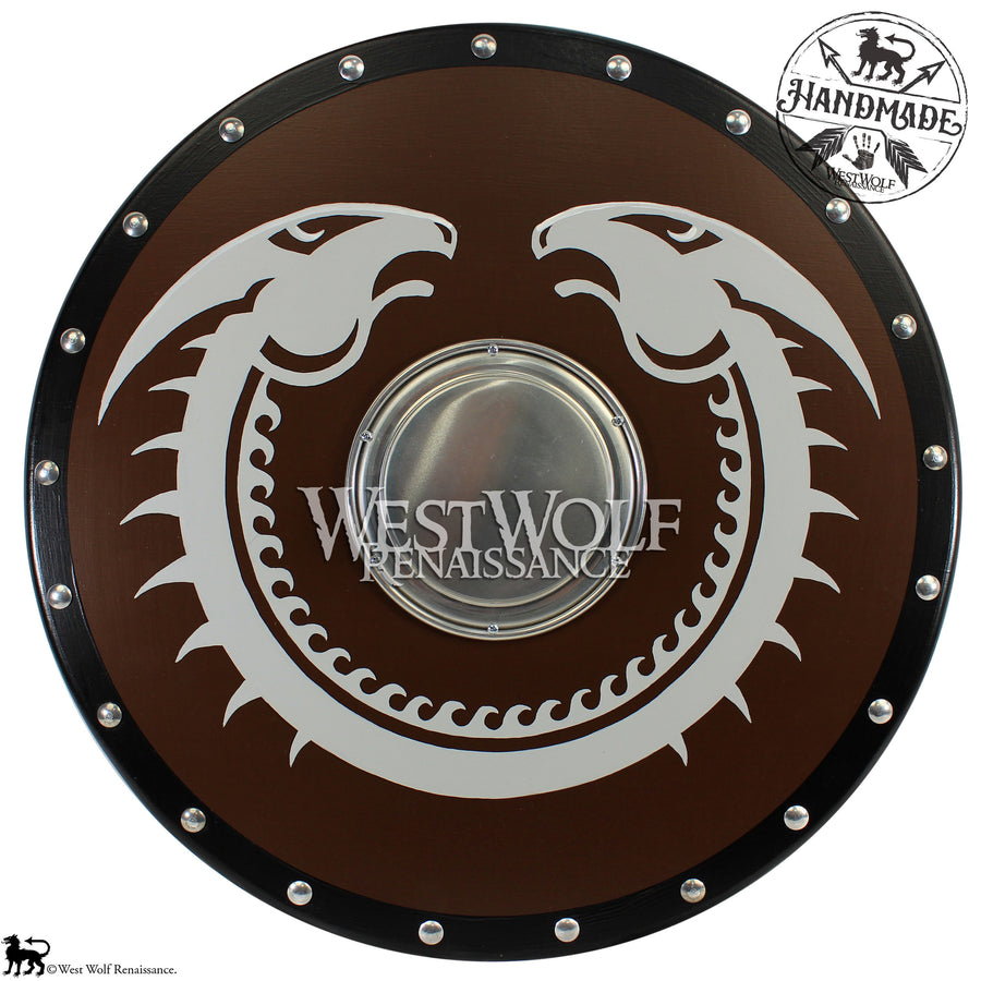 Round Viking Dragon Shield - Standard Version