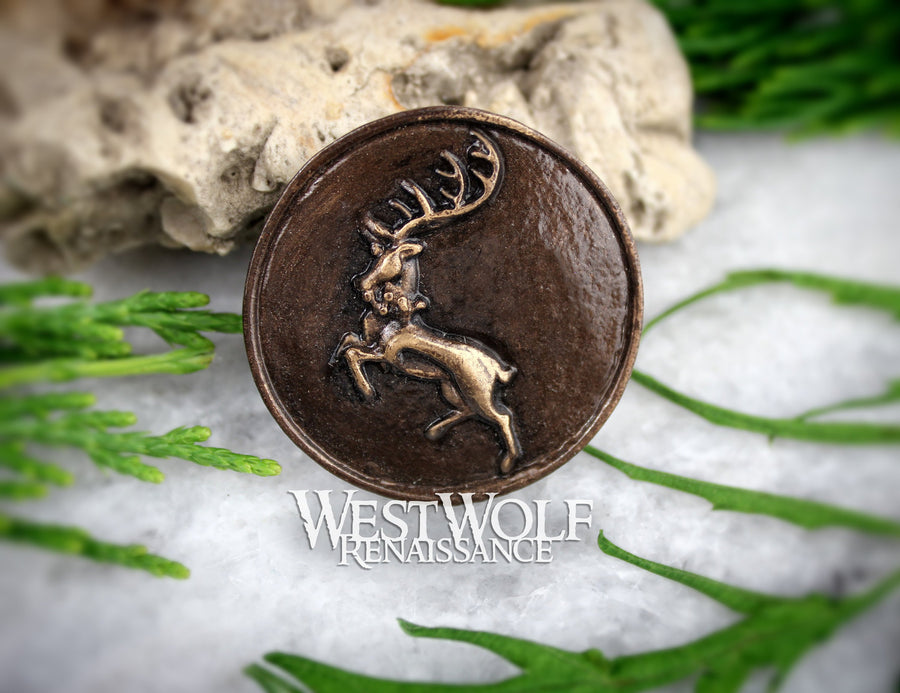 Game of Thrones House Sigil Pin - Silver or Bronze Finish