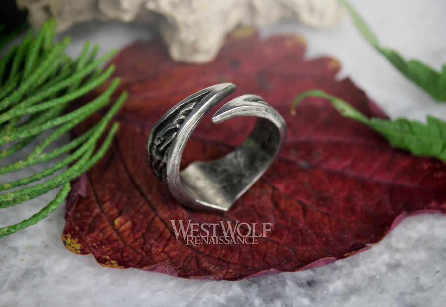 Viking Rune Ring - Your Choice of Rune Symbol - Adjustable US Sizes 9-13