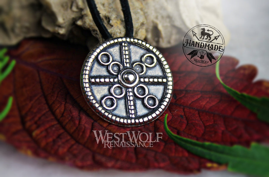 Celtic Sun Circle Pendant in Sterling Silver - Amulet of Protection