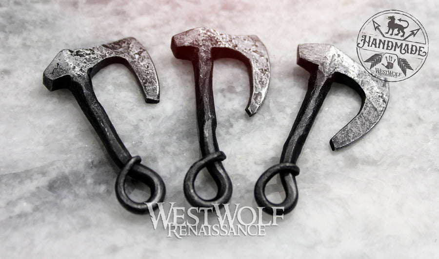 Viking Axe Pendant - Hand-Forged Iron