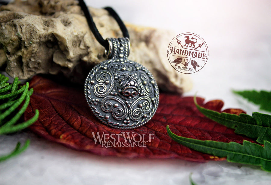 Viking Stora Ryk Pendant in Sterling Silver - Historic Replica