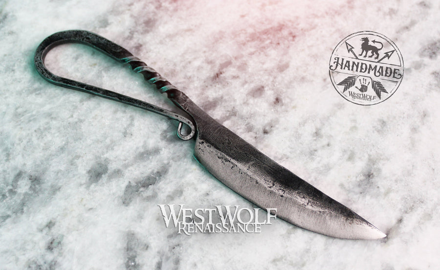 Hand-Forged Steel Viking or Celtic Style All-Purpose Knife