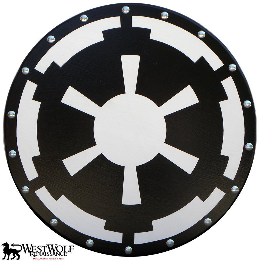 Round Star Wars Imperial Logo EMPIRE SHIELD - Dark Side Armor - Great for a Stormtrooper