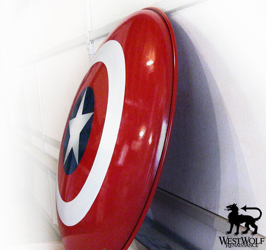 Solid Steel American Hero Shield - Full Size and Dished/Domed Shape