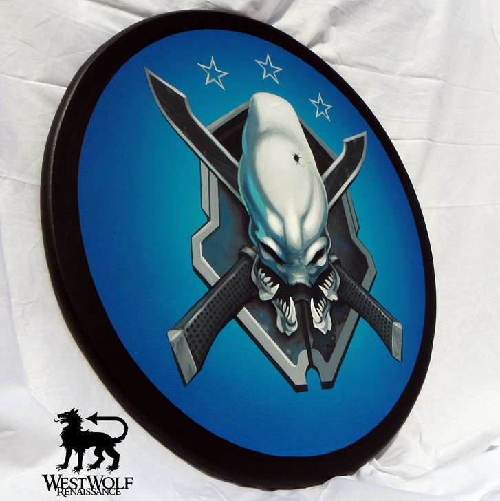 Custom Made Handpainted HALO Legendary Shield