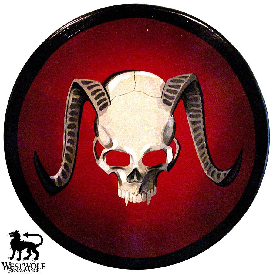 Round Demon Skull Shield