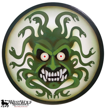 Full-Size Hand-Painted Greek Medusa Shield -- Very Large