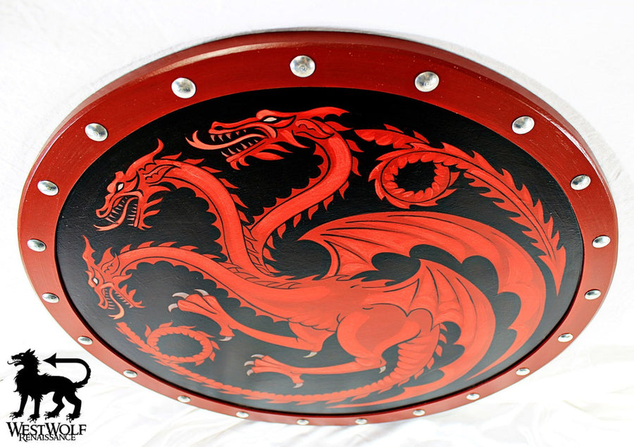 Dragon Shield of House Targaryen -- LARGE SIZE -- Game of Thrones
