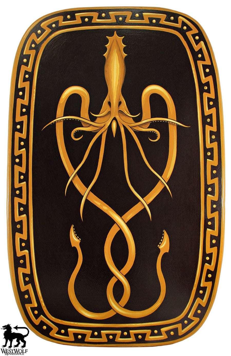 Kraken Shield of House Greyjoy -- Ironborn War Shield -- Game of Thrones