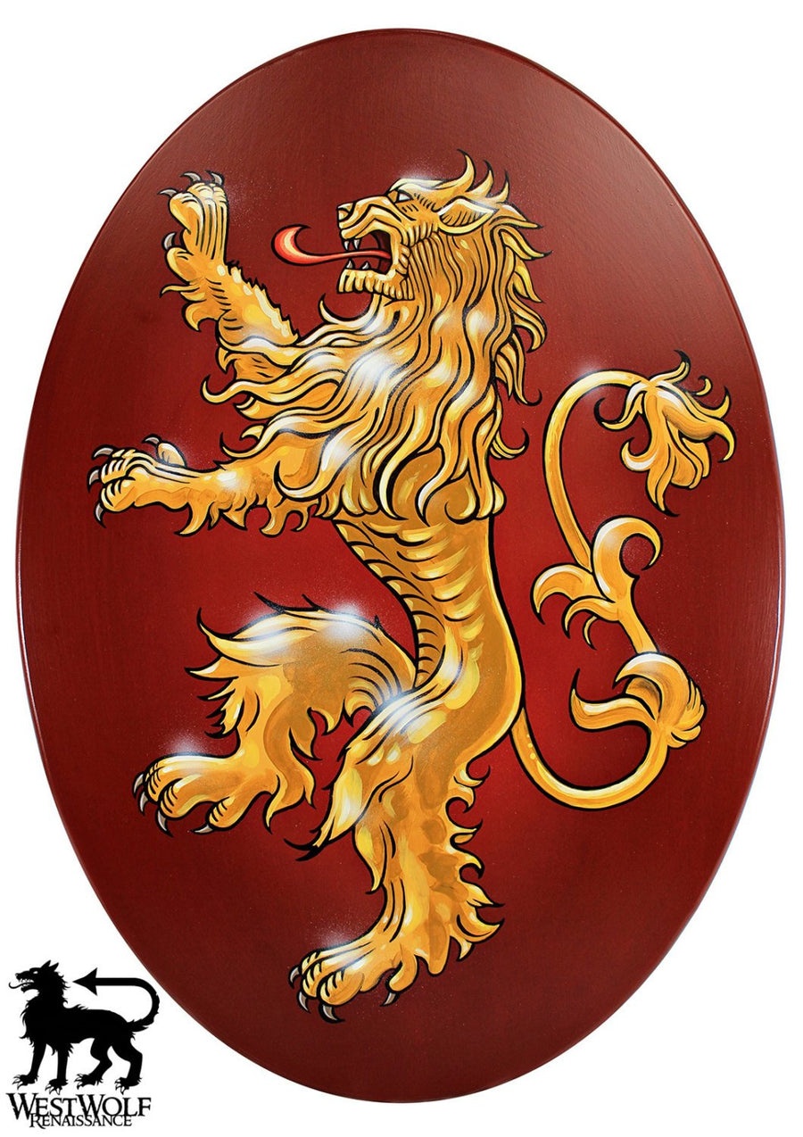 Lion of Lannister Oval War Shield -- Game of Thrones