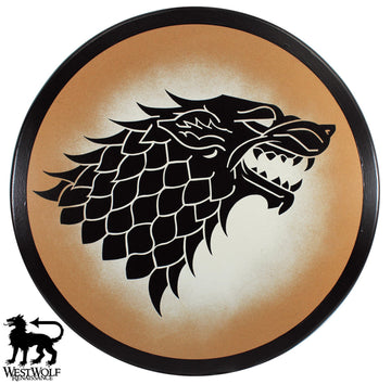 Black Direwolf Shield of House Stark