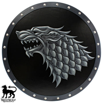 Direwolf Shield of House Stark - Elite War Shield - Game of Thrones
