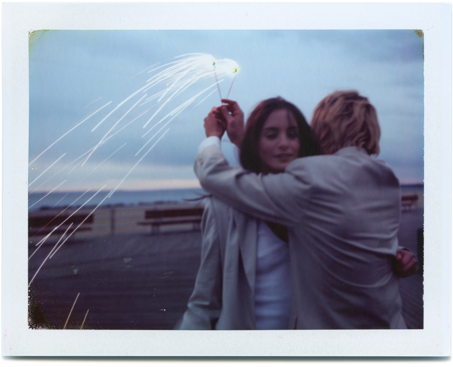 Couple on Coney Island Boardwalk - Original Polaroid by Dewey Nicks
