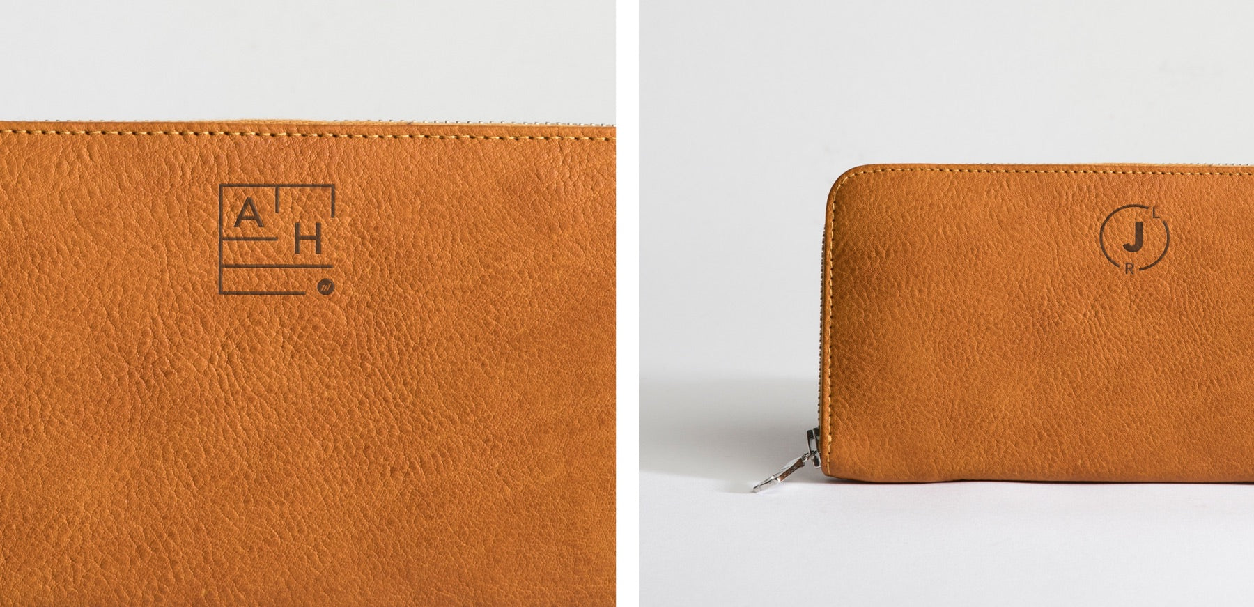 Zip Around Wallet - Monograms for Moore & Giles by Autotype
