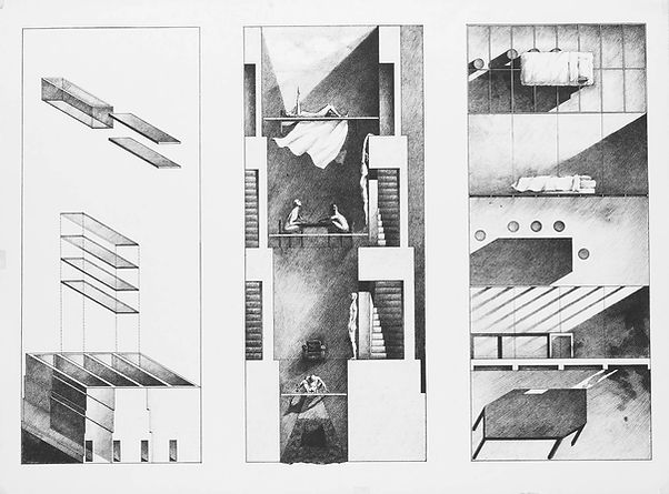 architectural renderings in pencil