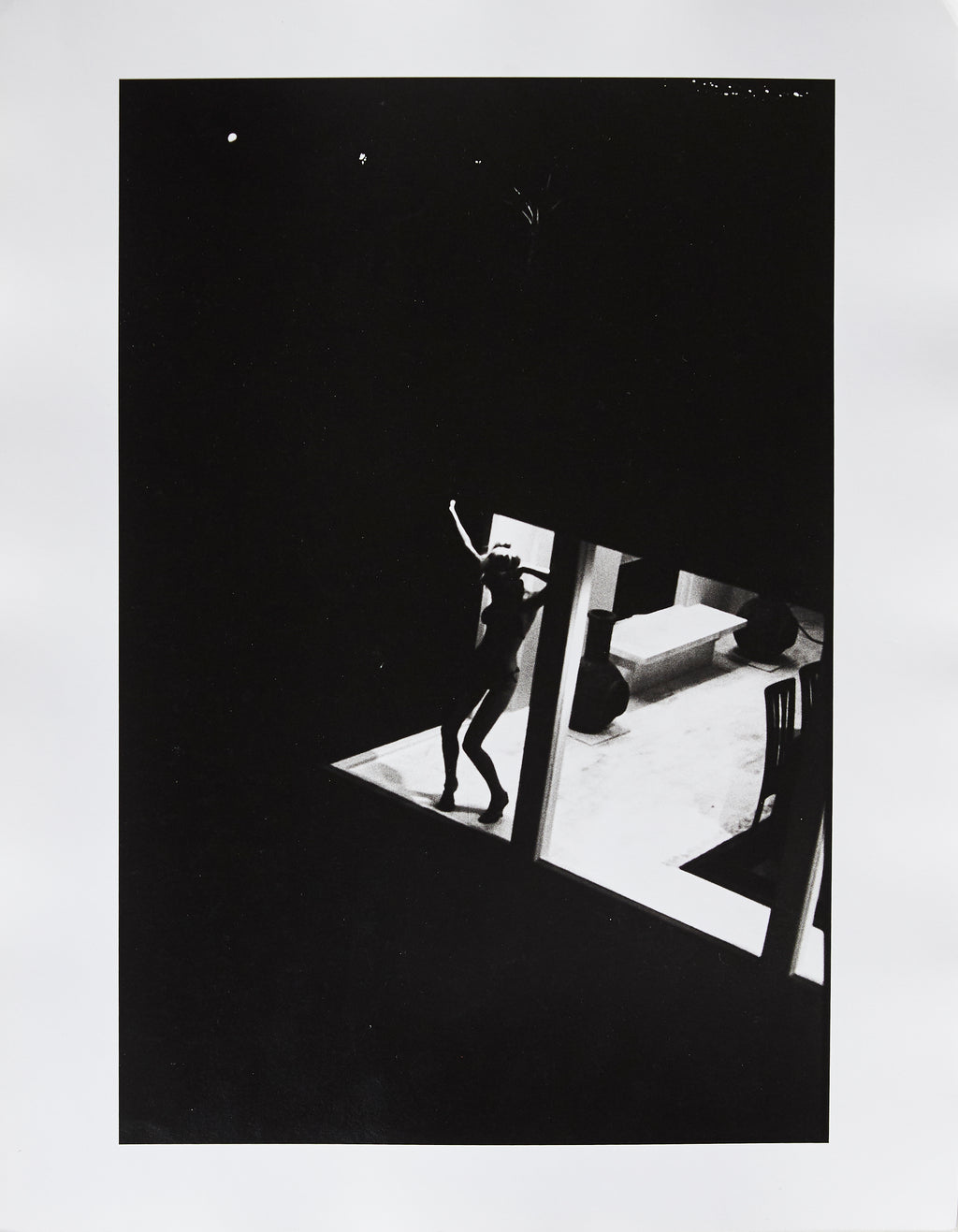 Ingrid Seynhaeve dancing in window #3 - Original Photo Print by Dewey Nicks