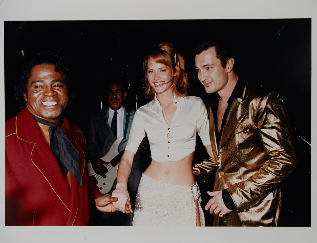 James Brown with Amber Valletta and Hervé on stage in Las Vegas - 11 x 14 - Kodak C-Print