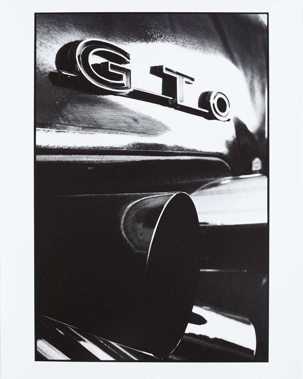 Rear end of George Barris' Kustom GTO exhaust  - Original Artist Print by Dewey Nicks