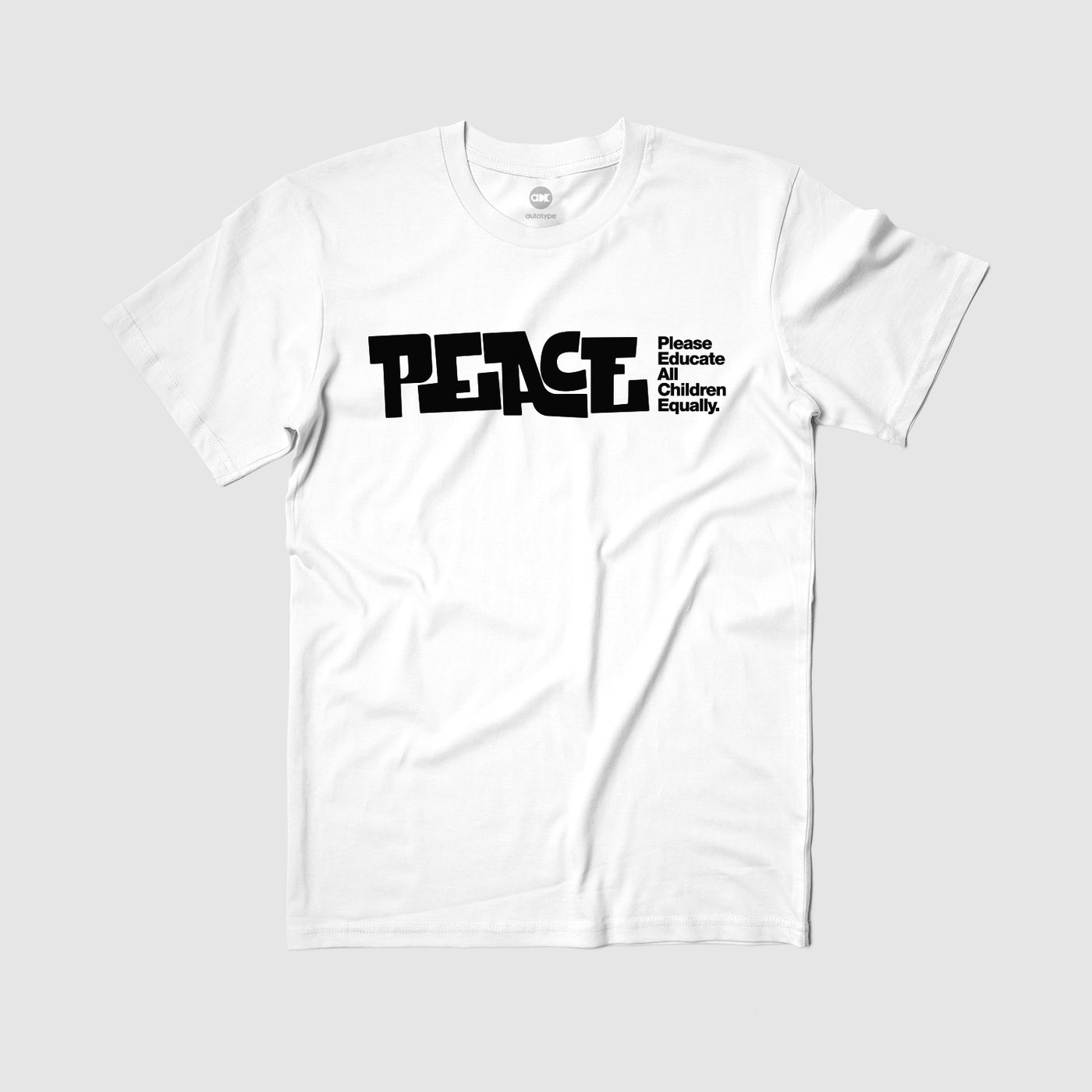 "PEACE ""Education"" Tee by Alyasha"