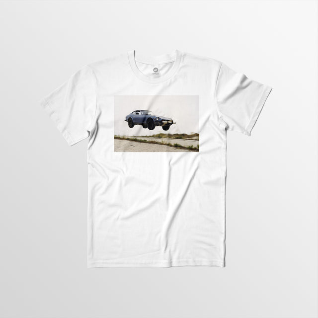 Men's Autotype + Dewey Nicks Flying Datsun Tee - White