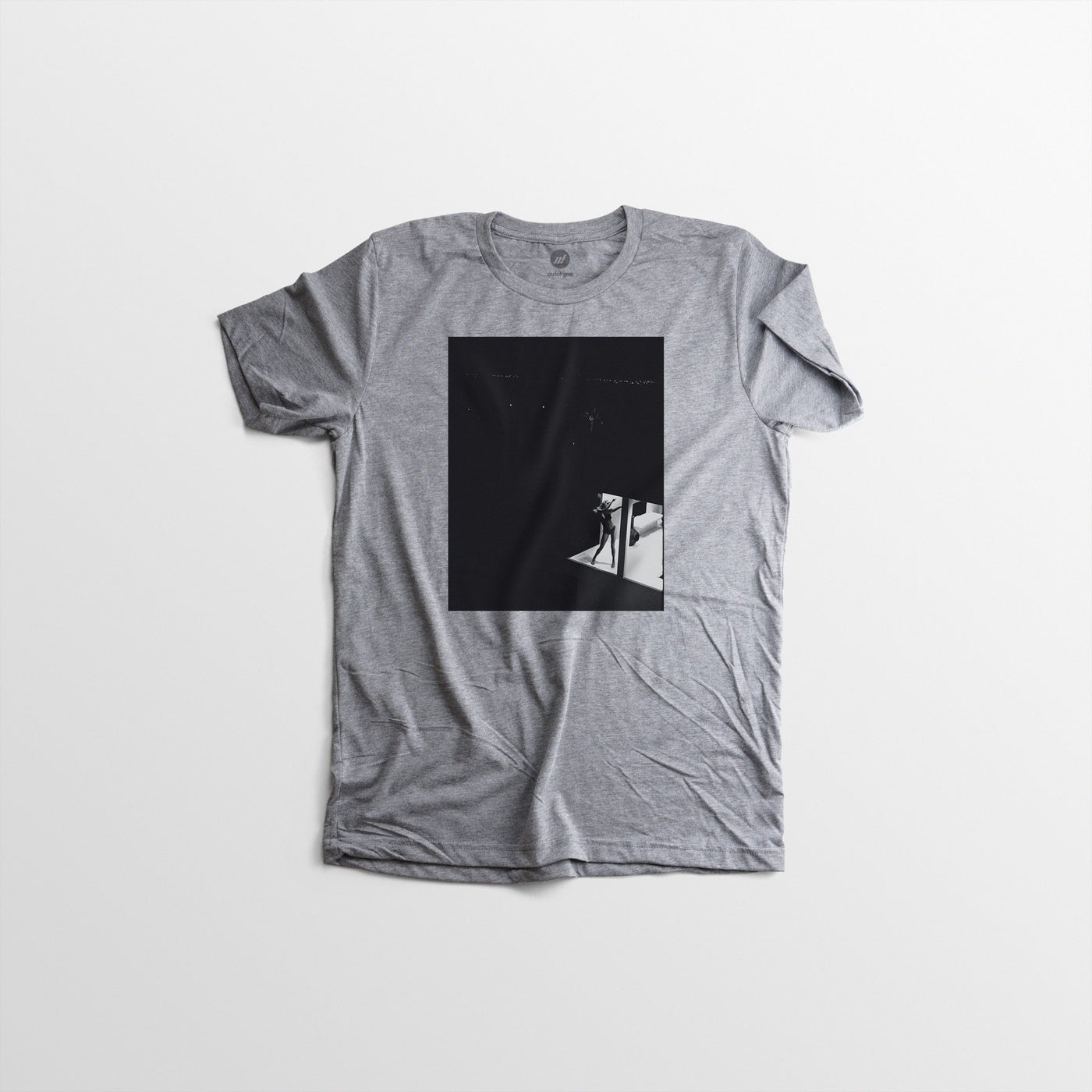Men's Autotype + Dewey Nicks Model in Window Tee - Grey