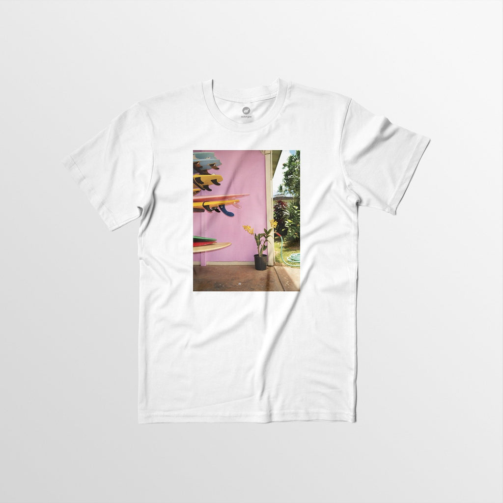 Men's Autotype + Dewey Nicks Stacked Surfboards Tee - White