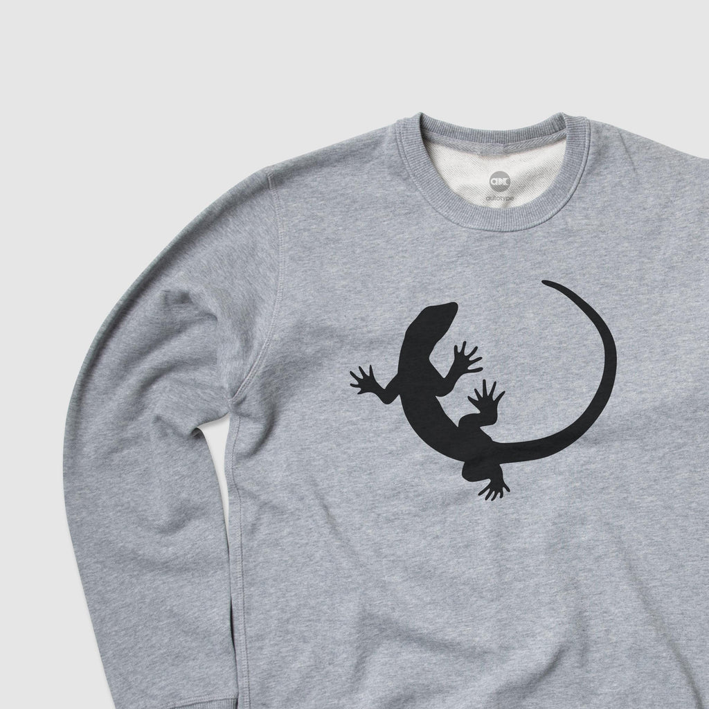 Men's ICON Lizard Crewneck Fleece - Athletic Heather Grey
