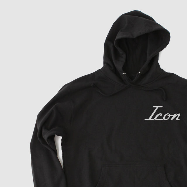Men's ICON Old School Hooded Fleece - Black
