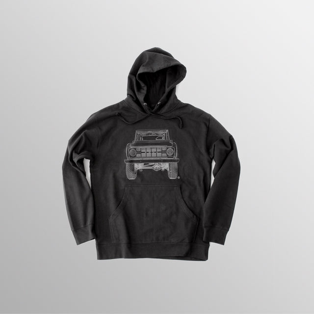 Men's BR Hooded Fleece - Black