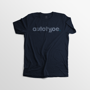 Men's Autotype Tee - Navy