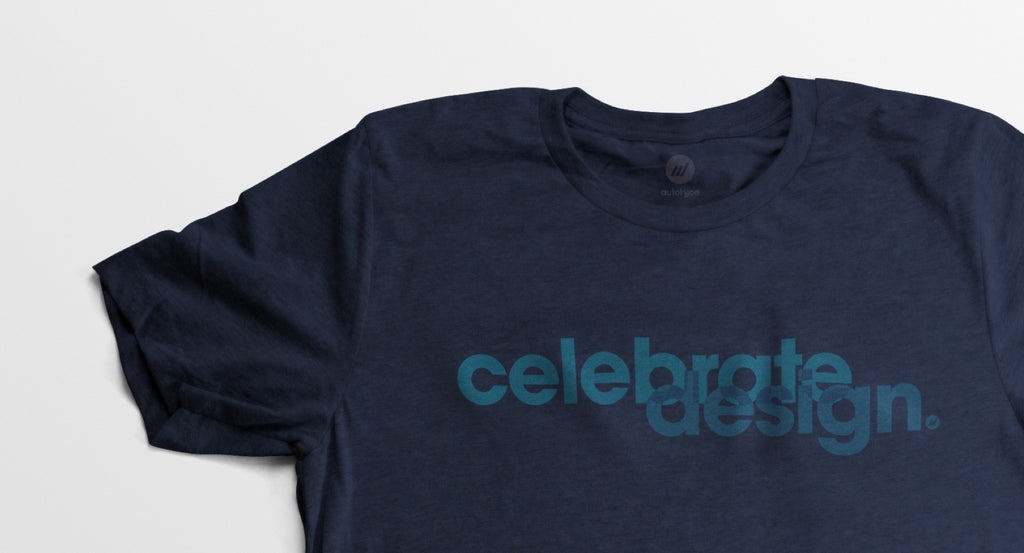 Men's Celebrate Design Navy Tee - By Autotype