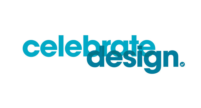 Celebrate Design Blue Graphic - By Autotype