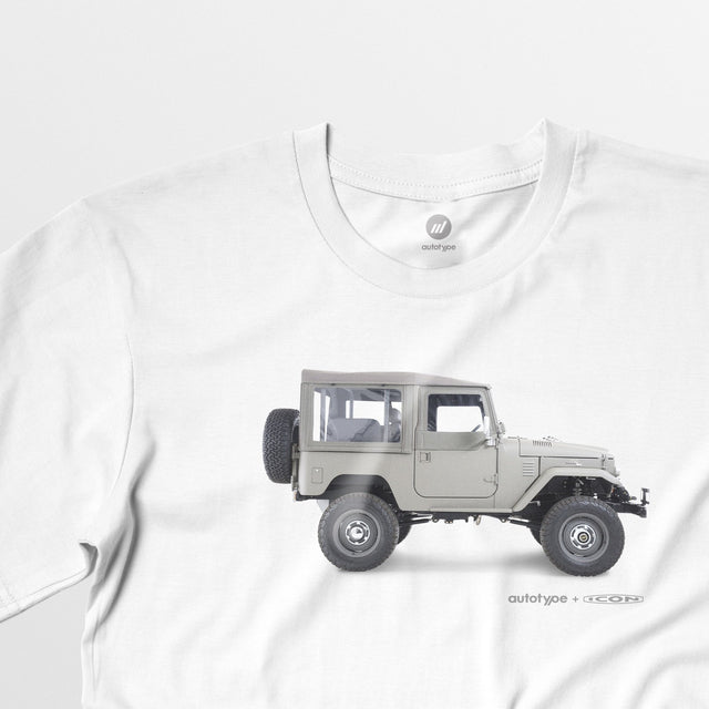 Limited Edition Men's ICON FJ40 Tee - White - By Autotype