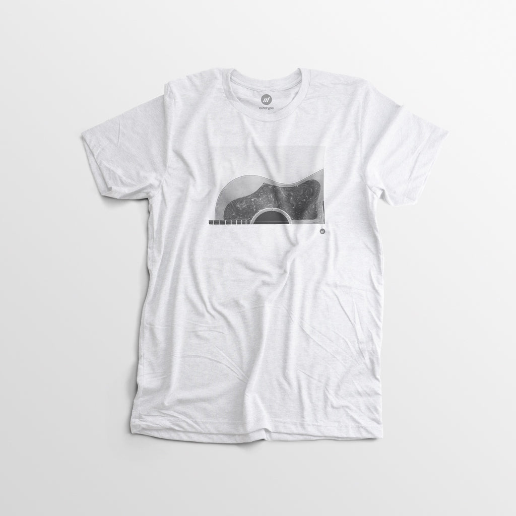 Men's Gibson Guitar Tee White - Erin Fleinbatt - By Autotype