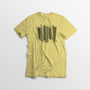 Men's Modern Lines Tee - Yellow - By Autotype